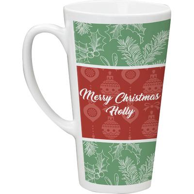 Christmas Holly Latte Mug (Personalized)