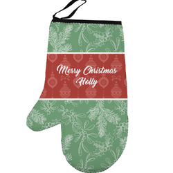 Christmas Holly Left Oven Mitt (Personalized)