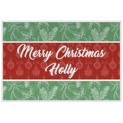Christmas Holly Laminated Placemat w/ Name or Text