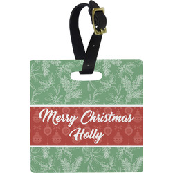 Christmas Holly Luggage Tags (Personalized)