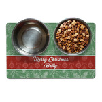 Christmas Holly Dog Food Mat (Personalized)
