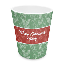 Christmas Holly Plastic Tumbler 6oz (Personalized)