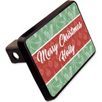 """Christmas Holly Rectangular Trailer Hitch Cover - 2"""" (Personalized)"""