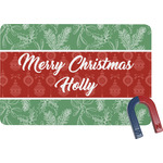Christmas Holly Rectangular Fridge Magnet (Personalized)