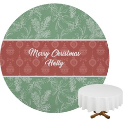 Christmas Holly Round Tablecloth (Personalized)