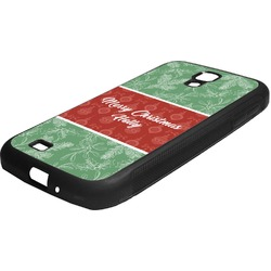 Christmas Holly Rubber Samsung Galaxy 4 Phone Case (Personalized)