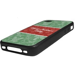 Christmas Holly Rubber iPhone Case 4/4S (Personalized)