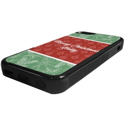 Christmas Holly Rubber iPhone 5C Phone Case (Personalized)