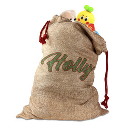 Christmas Holly Santa Sack (Personalized)