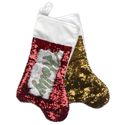 Christmas Holly Reversible Sequin Stocking (Personalized)