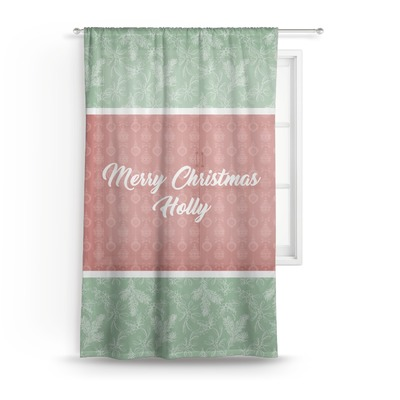 Christmas Holly Sheer Curtains (Personalized)