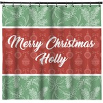 Christmas Holly Shower Curtain (Personalized)