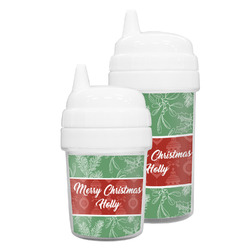 Christmas Holly Sippy Cup (Personalized)