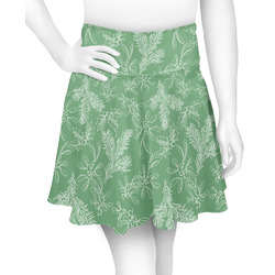 Christmas Holly Skater Skirt (Personalized)