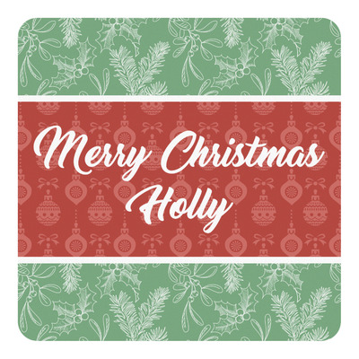 Christmas Holly Square Decal (Personalized)