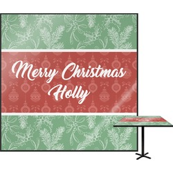 Christmas Holly Square Table Top (Personalized)