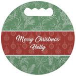 Christmas Holly Stadium Cushion (Round) (Personalized)