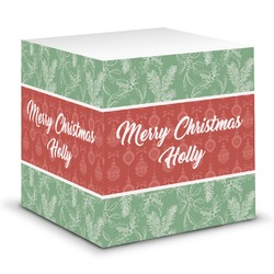 Christmas Holly Sticky Note Cube (Personalized)