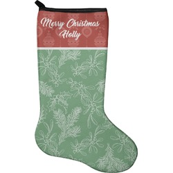 Christmas Holly Holiday Stocking - Neoprene (Personalized)