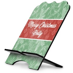 Christmas Holly Stylized Tablet Stand (Personalized)