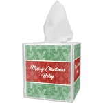 Christmas Holly Tissue Box Cover (Personalized)