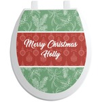 Christmas Holly Toilet Seat Decal (Personalized)