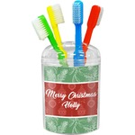 Christmas Holly Toothbrush Holder (Personalized)