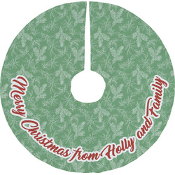 Christmas Holly Tree Skirt (Personalized)