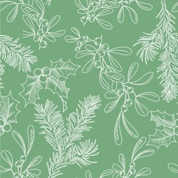 Christmas Holly Wallpaper & Surface Covering