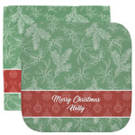 Christmas Holly Facecloth / Wash Cloth (Personalized)