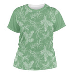 Christmas Holly Women's Crew T-Shirt (Personalized)