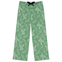 Christmas Holly Womens Pajama Pants (Personalized)