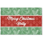 Christmas Holly Woven Mat (Personalized)