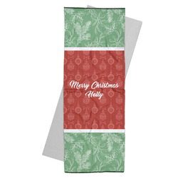 Christmas Holly Yoga Mat Towel (Personalized)