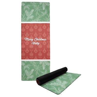 Christmas Holly Yoga Mat (Personalized)