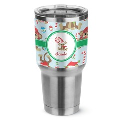 Christmas Monkeys Stainless Steel Tumbler - 30 oz (Personalized)