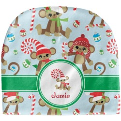 Christmas Monkeys Baby Hat (Beanie) (Personalized)