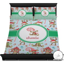 Christmas Monkeys Duvet Cover Set (Personalized)