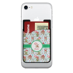 Christmas Monkeys Cell Phone Credit Card Holder (Personalized)
