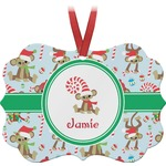 Christmas Monkeys Ornament (Personalized)