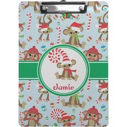 Christmas Monkeys Clipboard (Personalized)