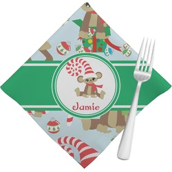 Christmas Monkeys Napkins (Set of 4) (Personalized)