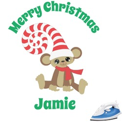 Christmas Monkeys Graphic Iron On Transfer (Personalized)