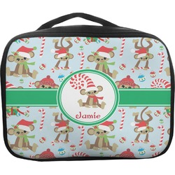 Christmas Monkeys Insulated Lunch Bag (Personalized)