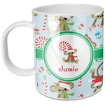 Christmas Monkeys Plastic Kids Mug (Personalized)