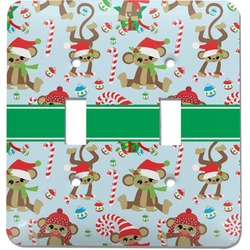 Christmas Monkeys Light Switch Cover (2 Toggle Plate) (Personalized)