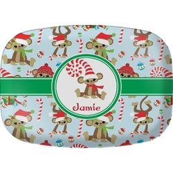 Christmas Monkeys Melamine Platter (Personalized)