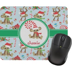 Christmas Monkeys Mouse Pad (Personalized)