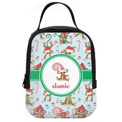 Christmas Monkeys Neoprene Lunch Tote (Personalized)