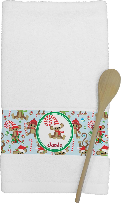 Christmas Monkeys Kitchen Towel Personalized You